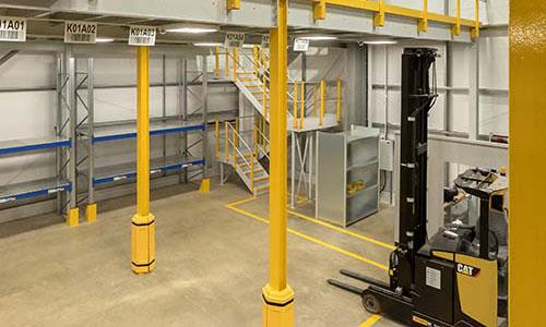 Mezzanine Column Protection