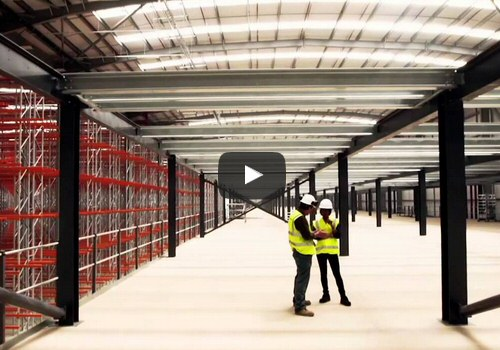 Multitier mezzanine intallation video
