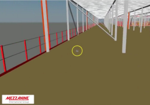 Multitier mezzanine walkthrough video