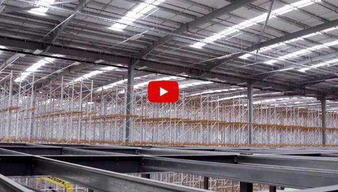Future-proofed multi-tier mezzanine construction and installation for a distribution centre.